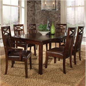 Standard Furniture Sonoma 7 Piece Dining Table and Chairs Set