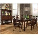 Standard Furniture Sonoma Rectangular Leg Dining Table - Shown with Coordinating Side and Arm Chairs, and Dining Sideboard with Hutch