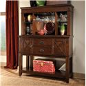 Standard Furniture Sonoma Dining Sideboard Buffet with Hutch - Shown in Room Setting