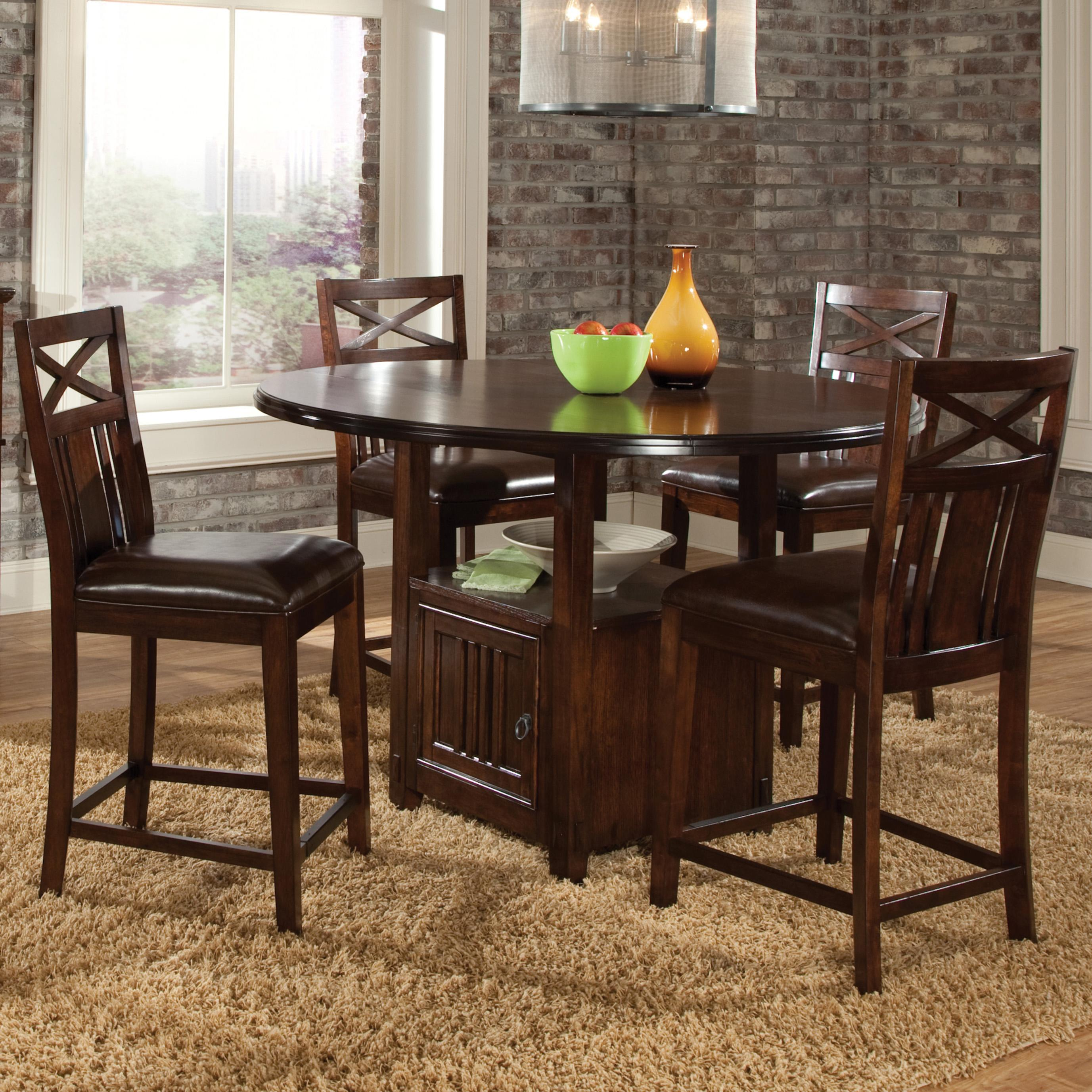 Standard Furniture Sonoma 5 Piece Counter Height Table and Chair Set - Item Number: 11906+4x11914
