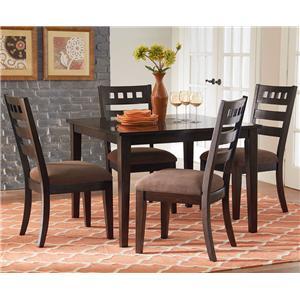 Standard Furniture Sparkle 5-Piece Leg Dining Table