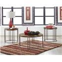 Standard Furniture Occasional Tables Oslo 3 Pack of Occasional Tables - Item Number: STAND-GRP-OT-OSLO-3PACK