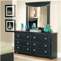 Standard Furniture Carlsbad Vertical Panel Mirror - Shown with the dresser