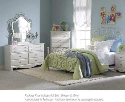 Standard Furniture Spring Rose 3-PC Full Bedroom - Item Number: 50250 3 pc full bedroom