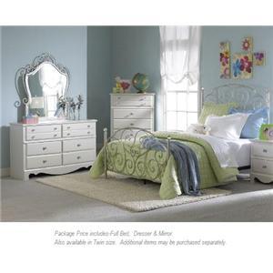 Standard Furniture Spring Rose 3-PC Full Bedroom