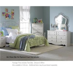 Standard Furniture Spring Rose 3-PC Twin Bedroom