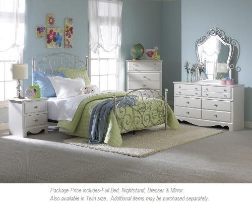 Standard Furniture Spring Rose 4-PC Full Bedroom - Item Number: 50250 4pc full bedroom