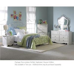 Standard Furniture Spring Rose 4-PC Full Bedroom