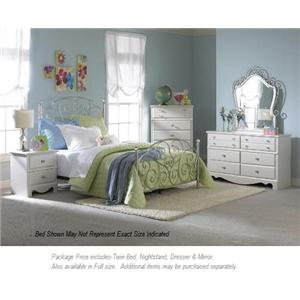 Standard Furniture Spring Rose 4-PC Twin Bedroom