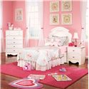 Standard Furniture Spring Rose Nightstand with 2 Drawers - Shown with Coordinating Chest and Night Stand