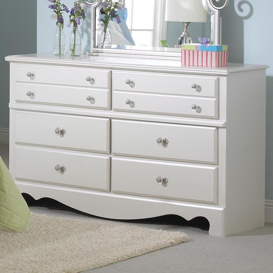 Standard Furniture Spring Rose Dresser With 6 Drawers Wayside Furniture Dressers