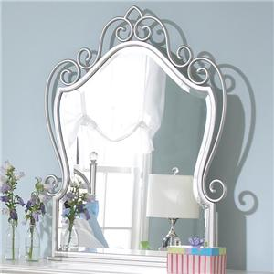 Standard Furniture Spring Rose Beveled Mirror with Metal Frame