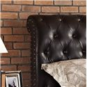 Vendor 855 Stanton Upholstered King Bed with Rolled and Tufted Headboard