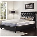 Vendor 855 Stanton Upholstered Queen Bed with Rolled and Tufted Headboard - Bed Shown May  Not Represent Size Indicated