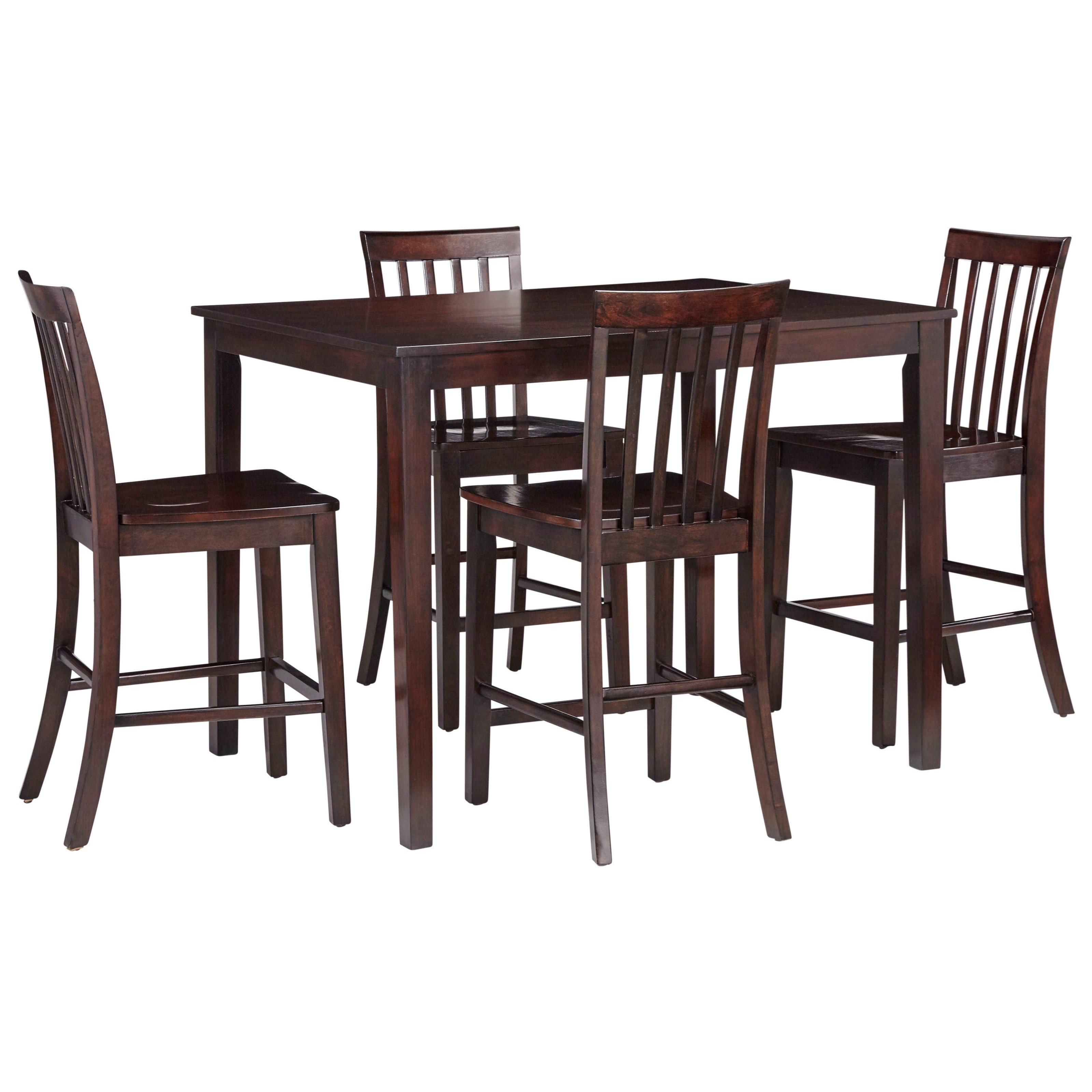 Magnificent Stanton Casual Counter Height Dining Table With Four Chairs By Standard Furniture At Standard Furniture Interior Design Ideas Clesiryabchikinfo