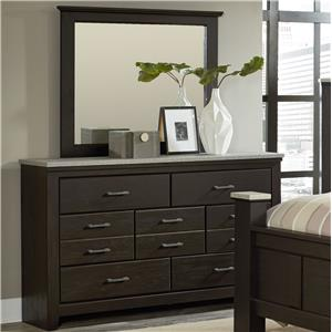 Vendor 855 Stonehill Dark Dresser + Mirror