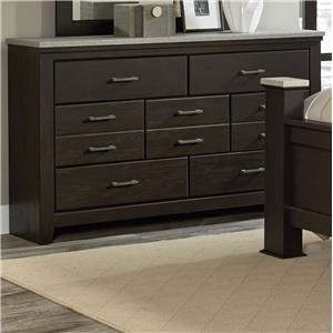 Vendor 855 Stonehill Dark 7 Drawer Dresser