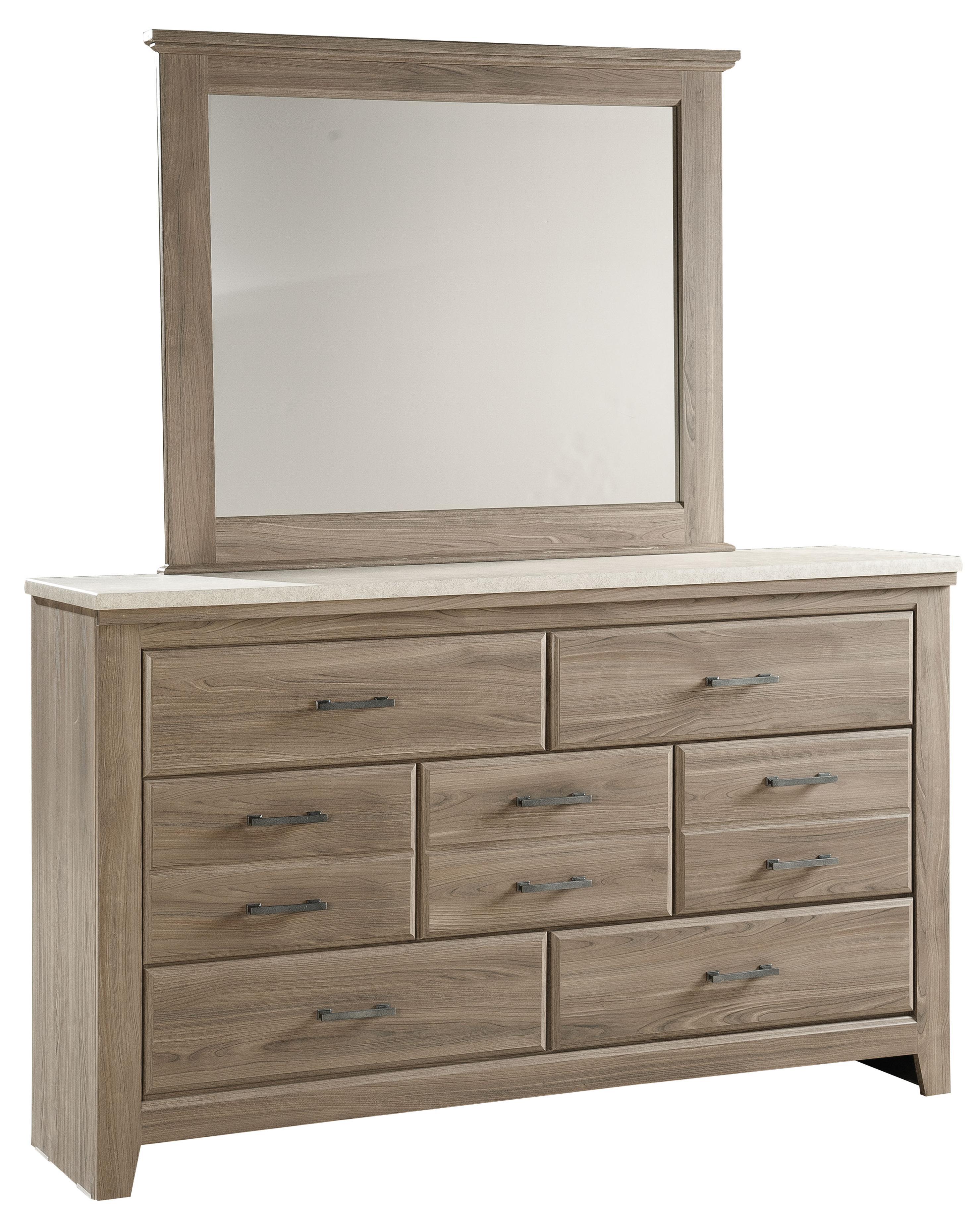 Standard Furniture Stonehill Dresser And Mirror   Item Number: 69409+18