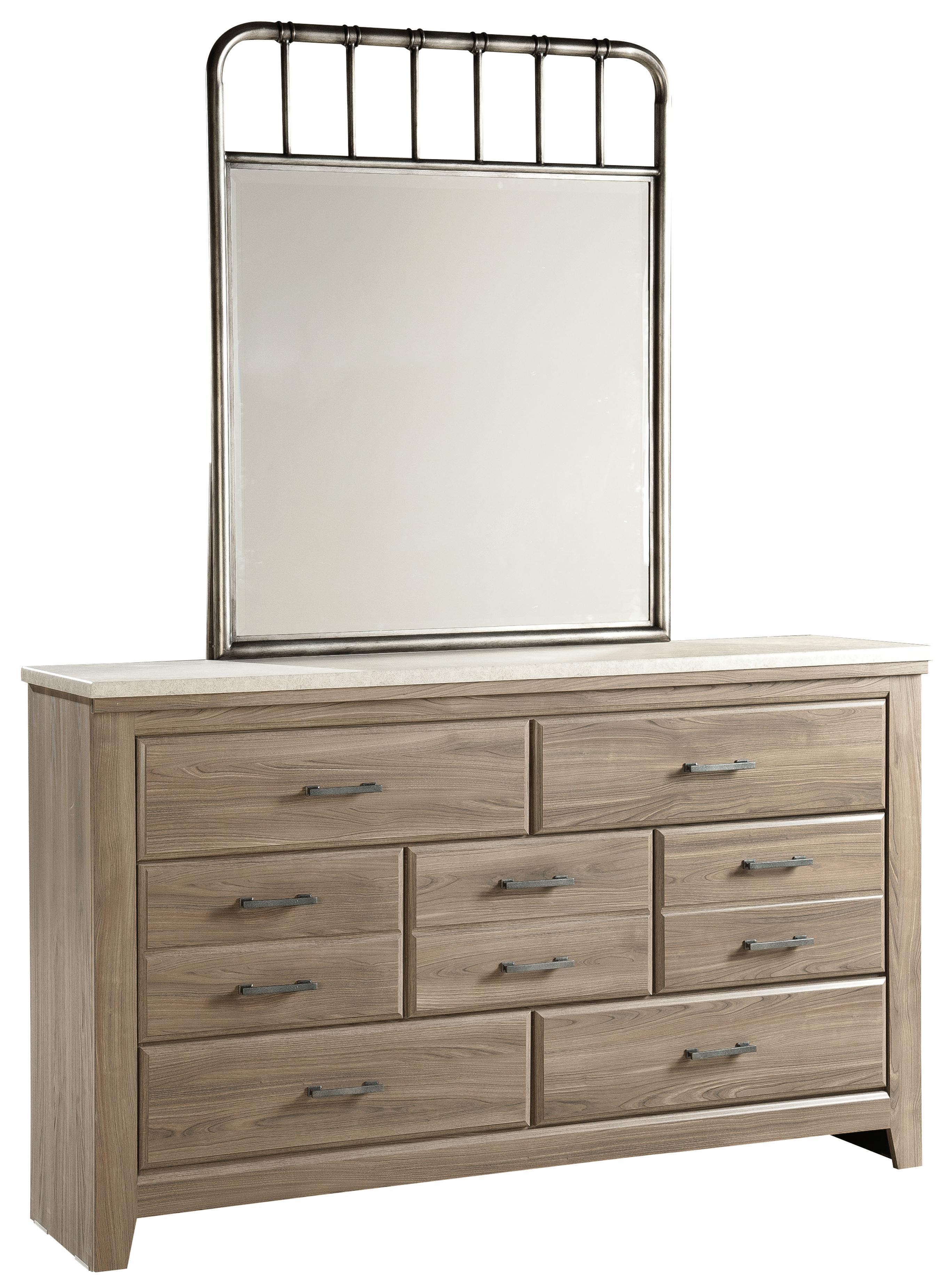 Standard Furniture Stonehill Dresser and Mirror - Item Number: 69409+87508