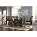 Standard Furniture Summerlin Counter Dining Table and 6 Chairs - Item Number: STANDO-GRP-103-TBL-CHRS