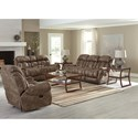 Standard Furniture Summit Reclining Loveseat with Center Console