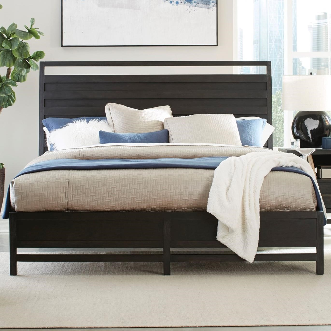 Standard Furniture Thomas Black Contemporary Queen Panel Bed