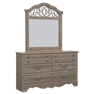 Standard Furniture Timber Creek Dresser and Mirror Set