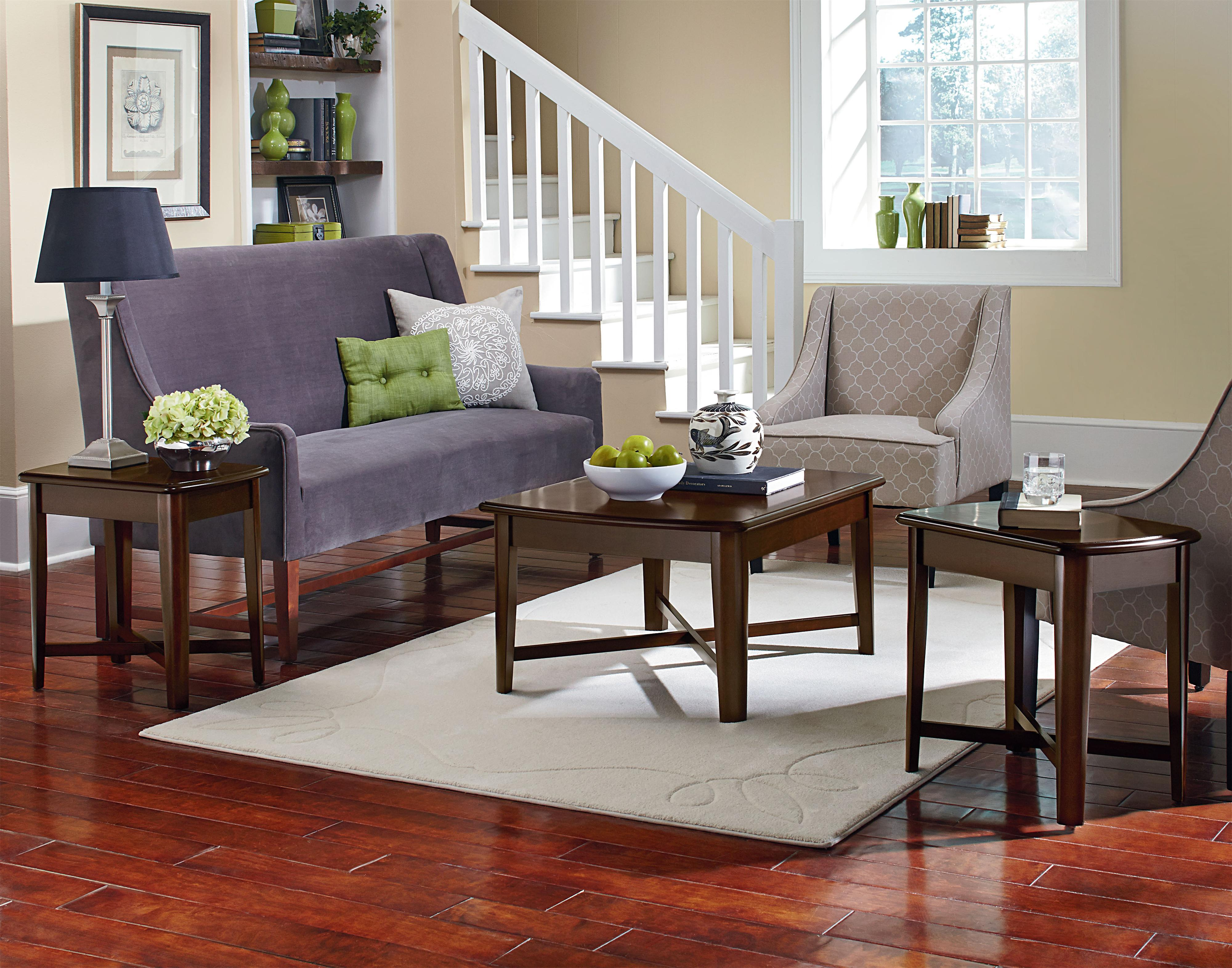 Living Room Furniture Whole Standard Furniture Townhouse 3 Piece Occasional Table Set With