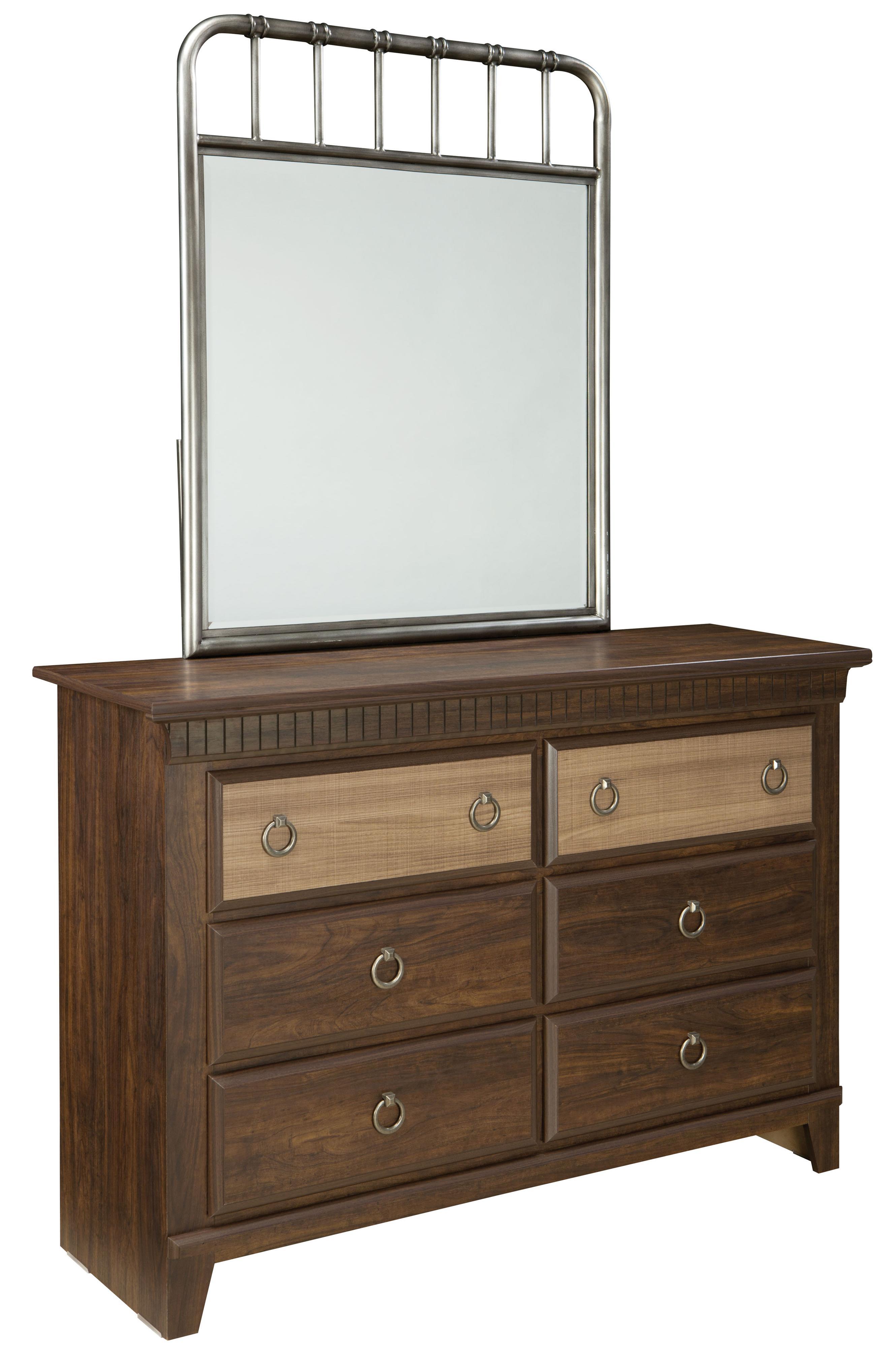 Standard Furniture Tristen Dresser and Mirror Combination - Item Number: 68159+87508