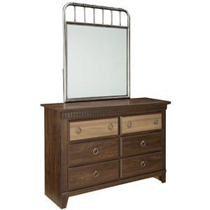 Standard Furniture Tristen Dresser and Mirror Combination