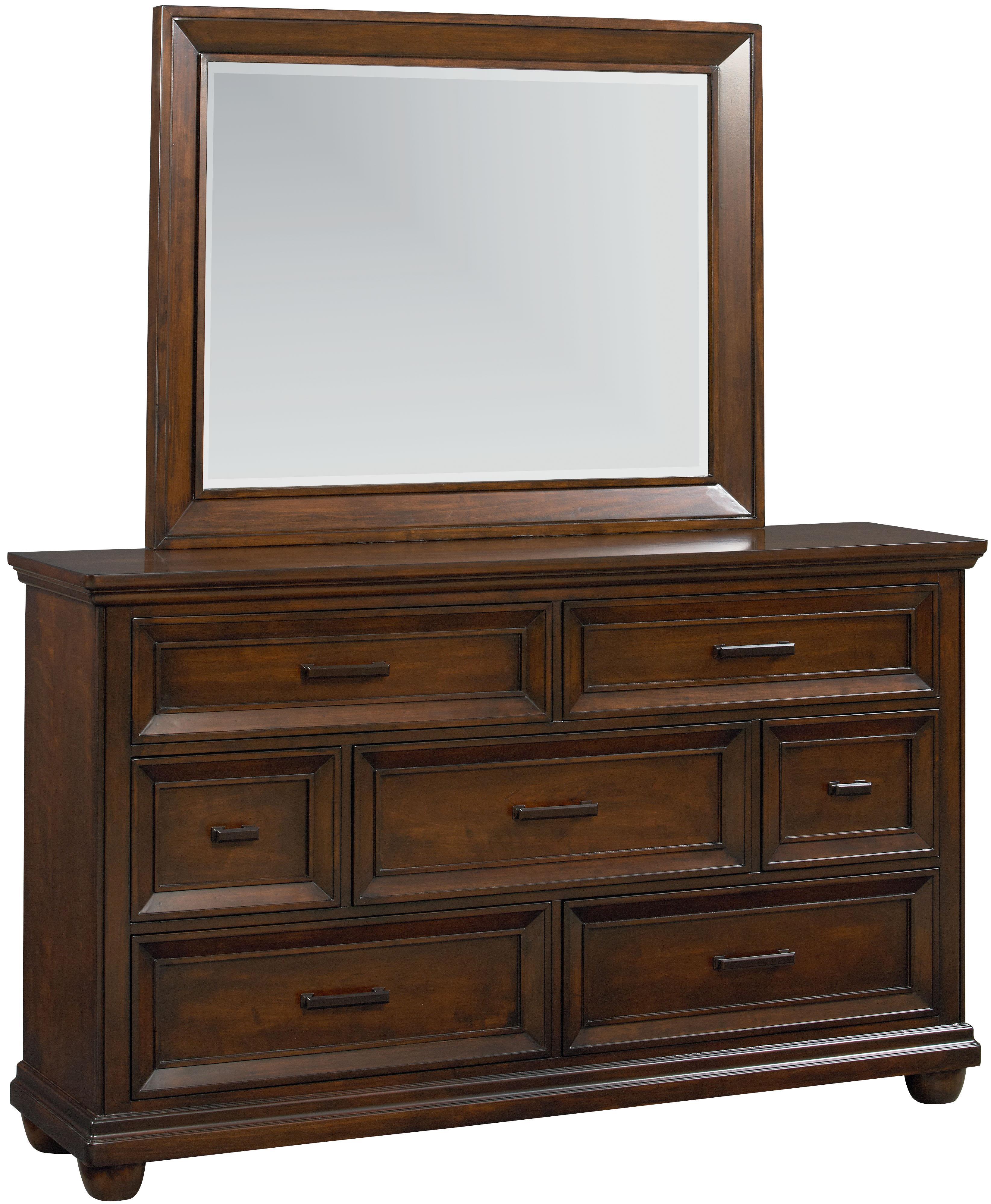 Vendor 855 Vineyard Dresser & Mirror Combo - Item Number: 87708+87709