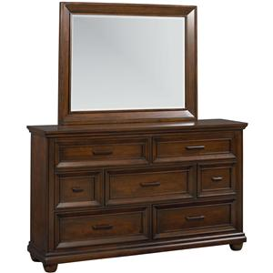 Standard Furniture Vineyard Dresser & Mirror Combo