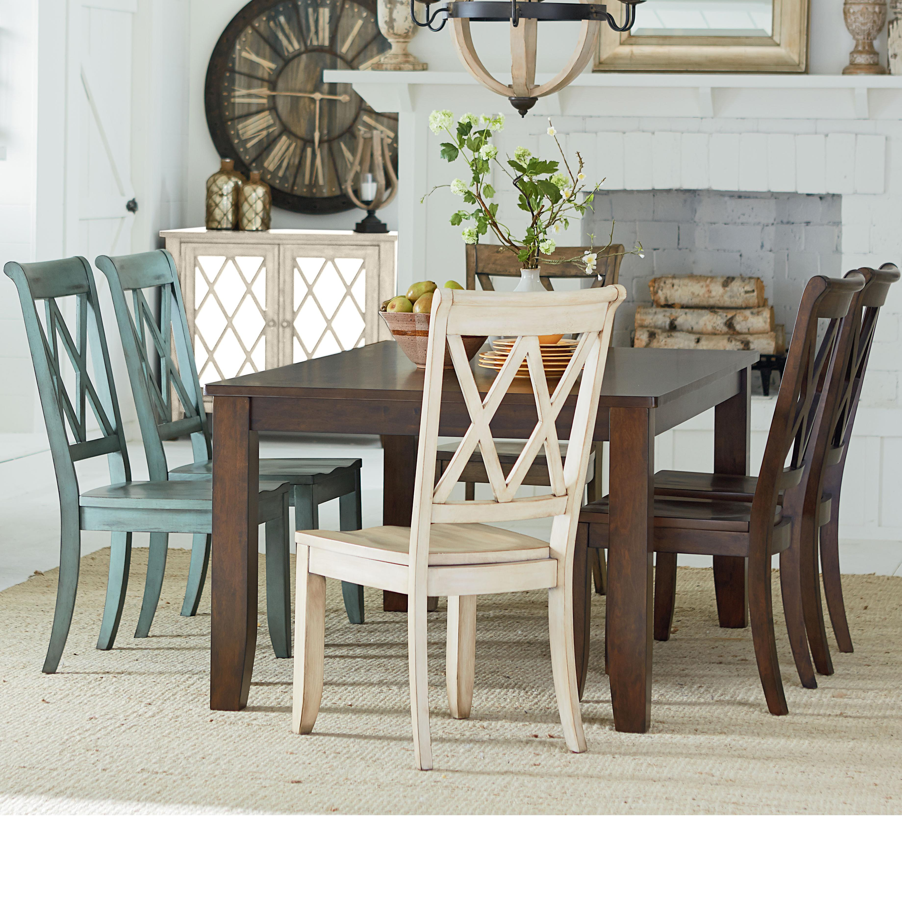 Standard Furniture Vintage Table and Chair Set - Item Number: 11301+2x11311+2x13315+13319+13308