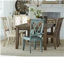 Standard Furniture Vintage Table and Chair Set - Item Number: 11306+2x11304+2x11307+11317+11305