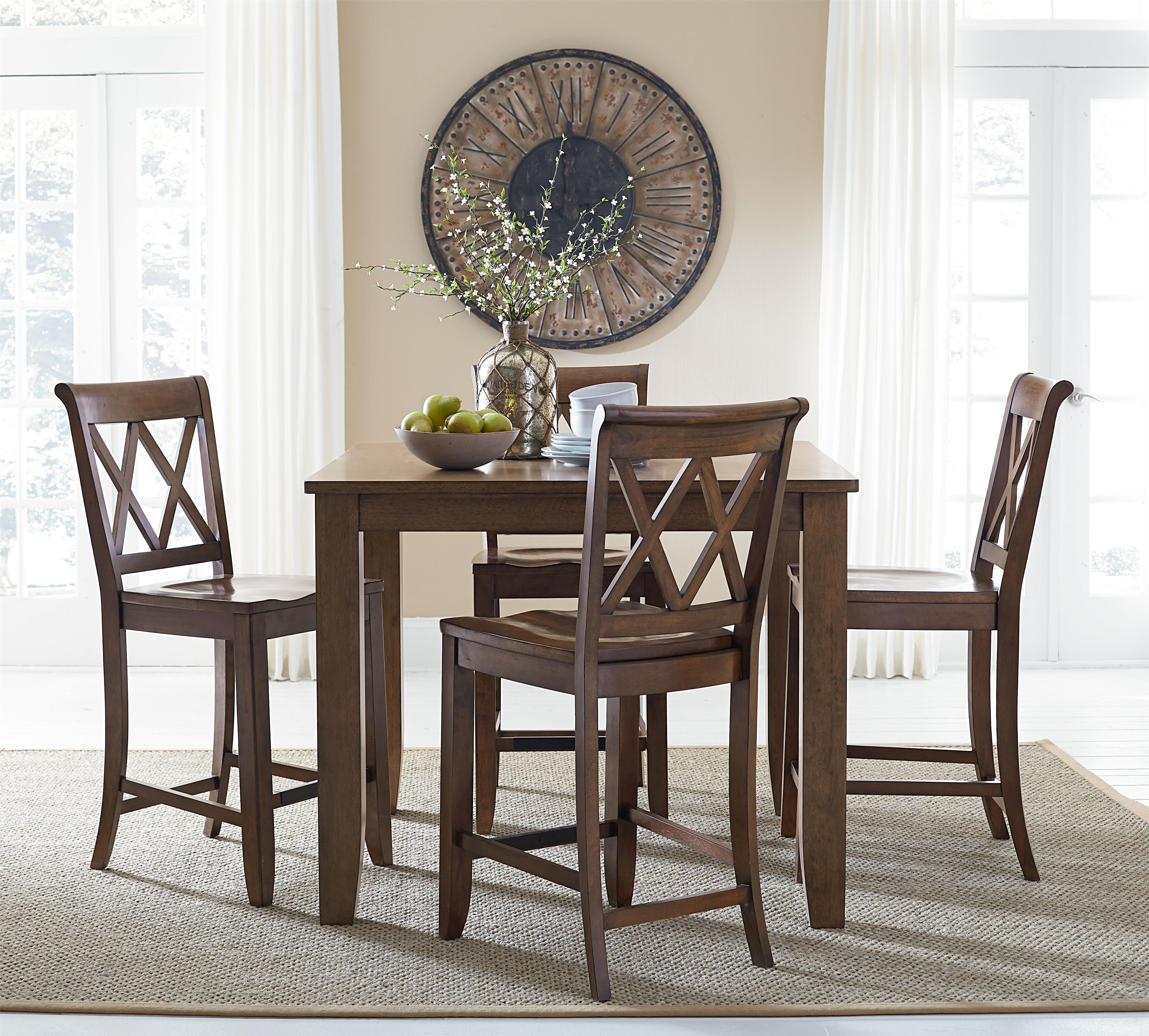 Standard Dining Room Table Size: Standard Furniture Vintage Counter Height Dining Set With