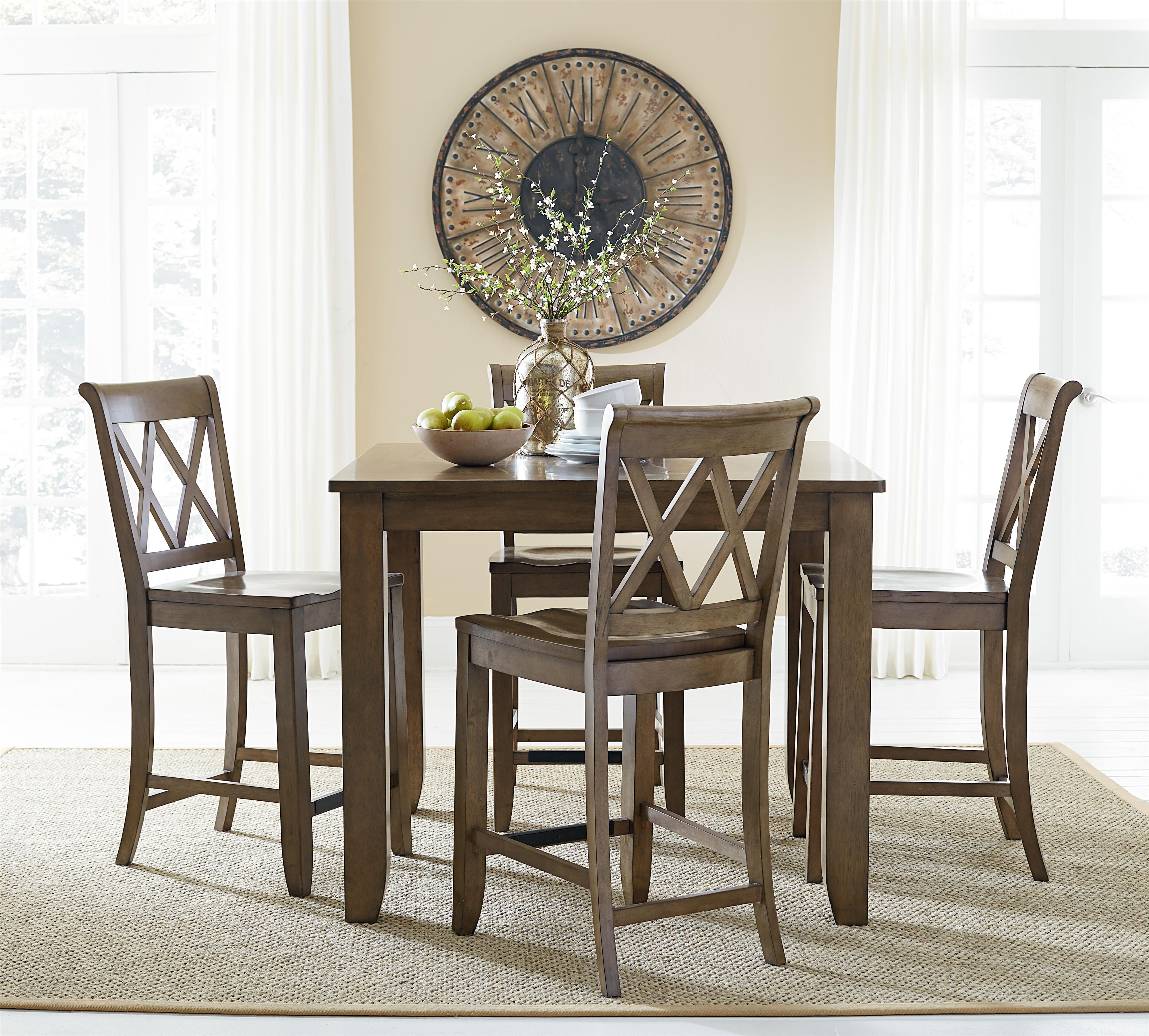 Standard Furniture Vintage Counter Height Dining Set   Item Number:  11326+4x27