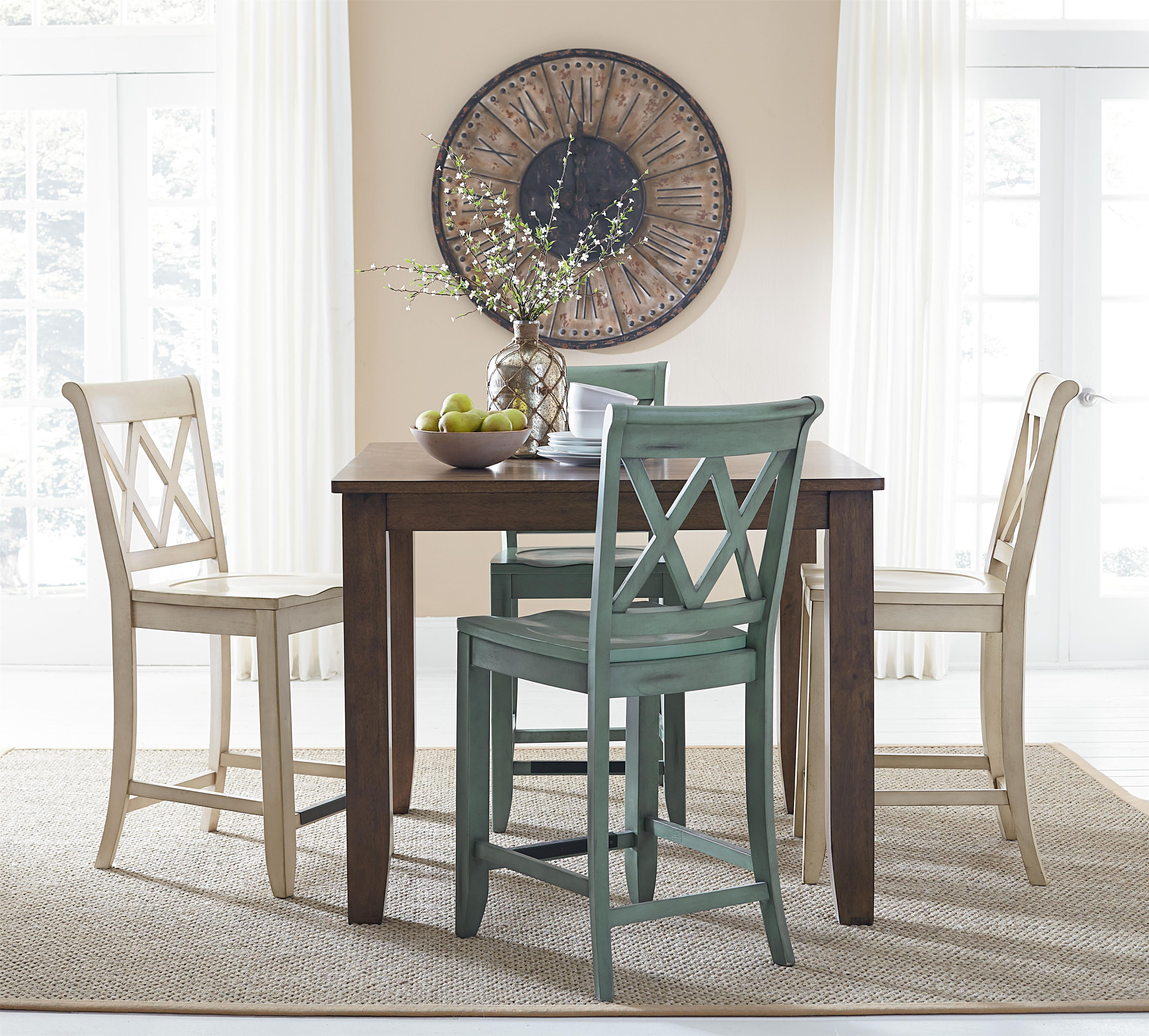 Standard Furniture Dining Room Sets: Standard Furniture Vintage Counter Height Dining Set With