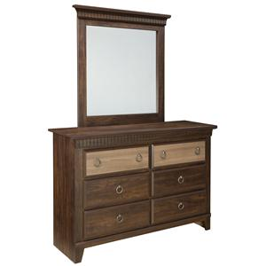 Standard Furniture Weatherly Dresser and Mirror Combination