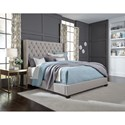 Standard Furniture Westerly King Upholstered Bed with Button Tufting