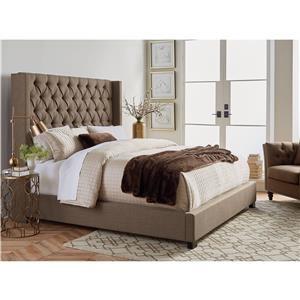 Standard Furniture Westerly Upholstered Bed and Englander Christina Euro