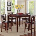 Standard Furniture Westlake Counter Height Table with 4 Stools - Item Number: 17292