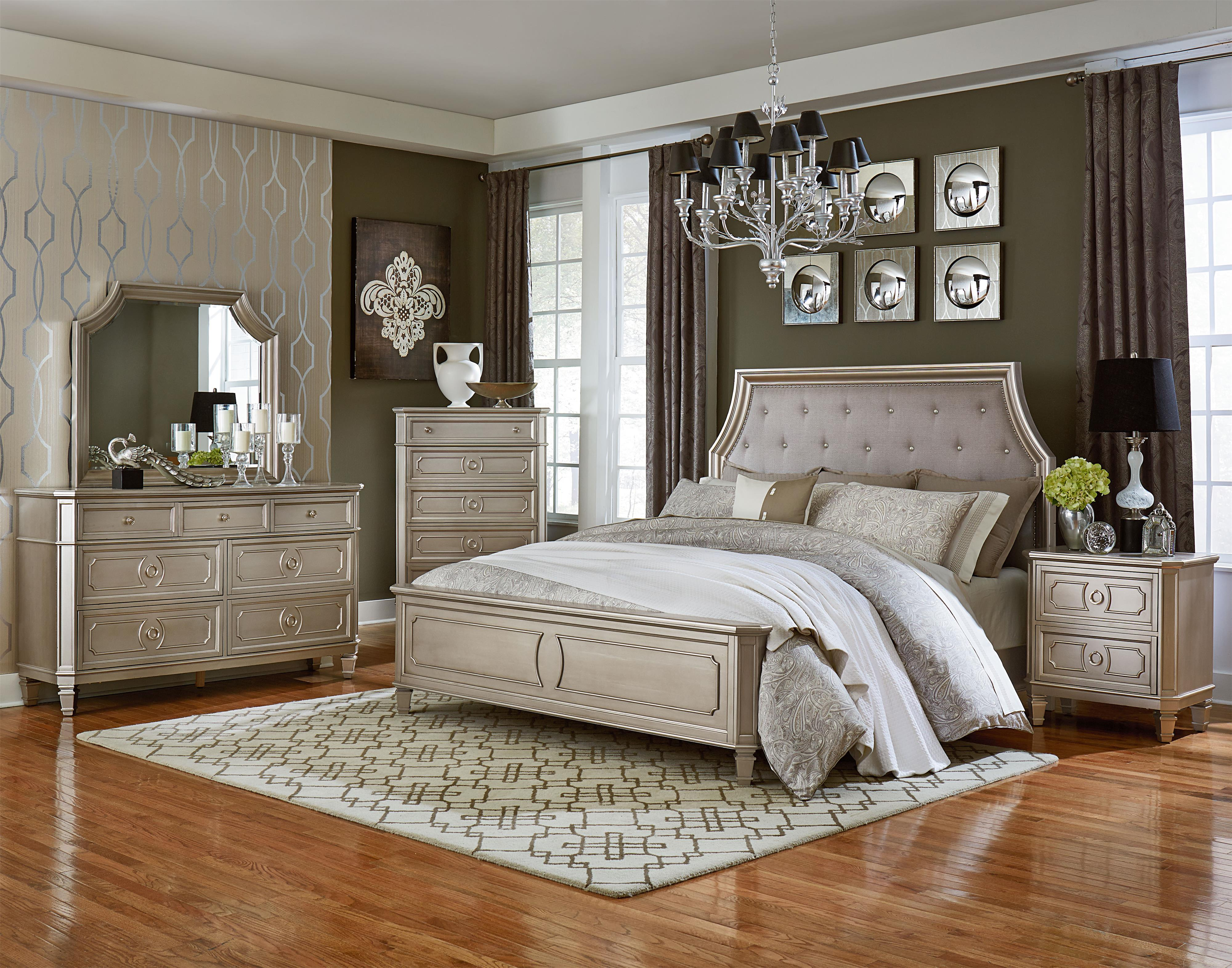 Standard Furniture Windsor Silver Queen Bedroom Group