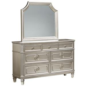 Standard Furniture Windsor Silver Dresser & Mirror