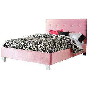 Standard Furniture Young Parisian Full Upholstered Headboard & Footboard Bed