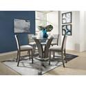 Standard Furniture Zayden Grey 5-Piece Counter Height Dining Set - Item Number: 1012761+12751+2x54