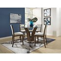 Standard Furniture Zayden Brown 5-Piece Counter Height Dining Set - Item Number: 1012761+12771+2x74