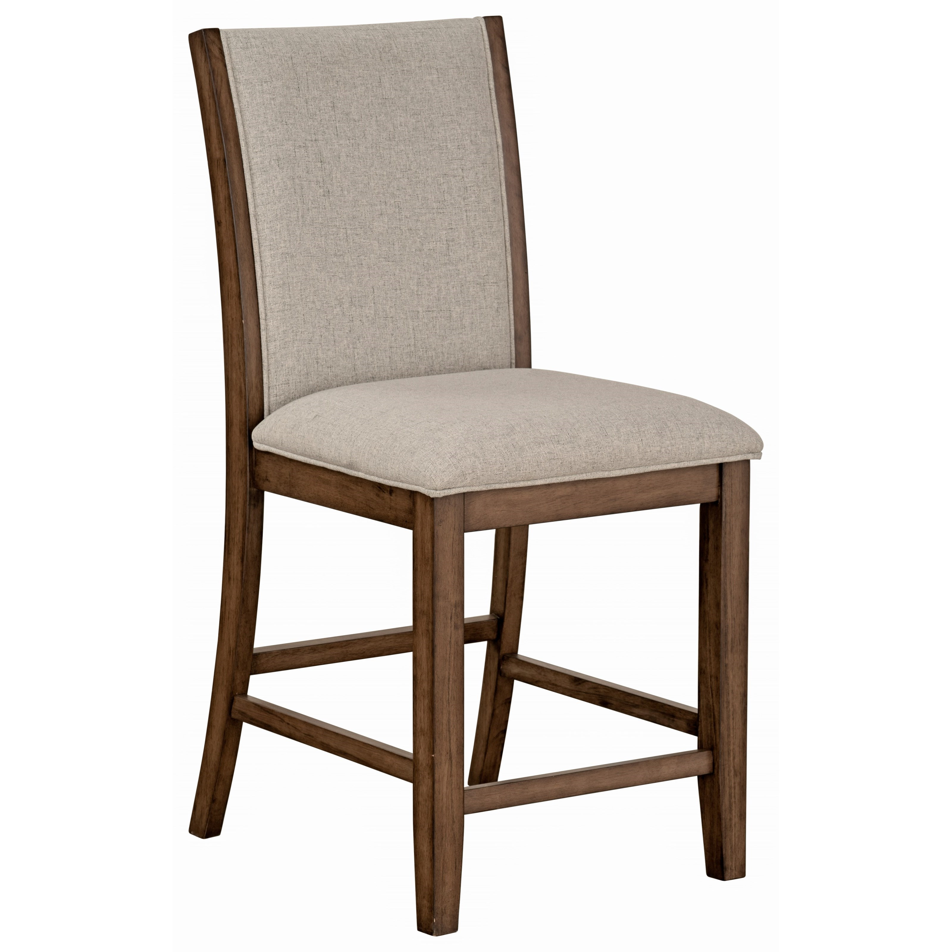 Standard Furniture Zayden Brown Contemporary Counter Height Side Chair With Upholstered Seat Adcock Furniture Dining Side Chairs