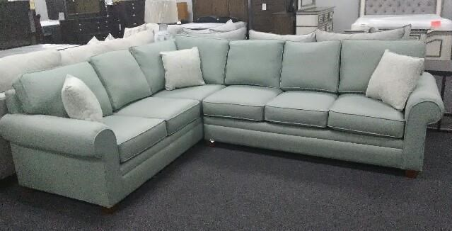 Stanley Chair Company 212 5 Seat Two Piece Sectional - Item Number: 212Jade