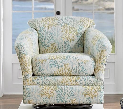 SARRAH TEAL  SWIVEL GLIDER