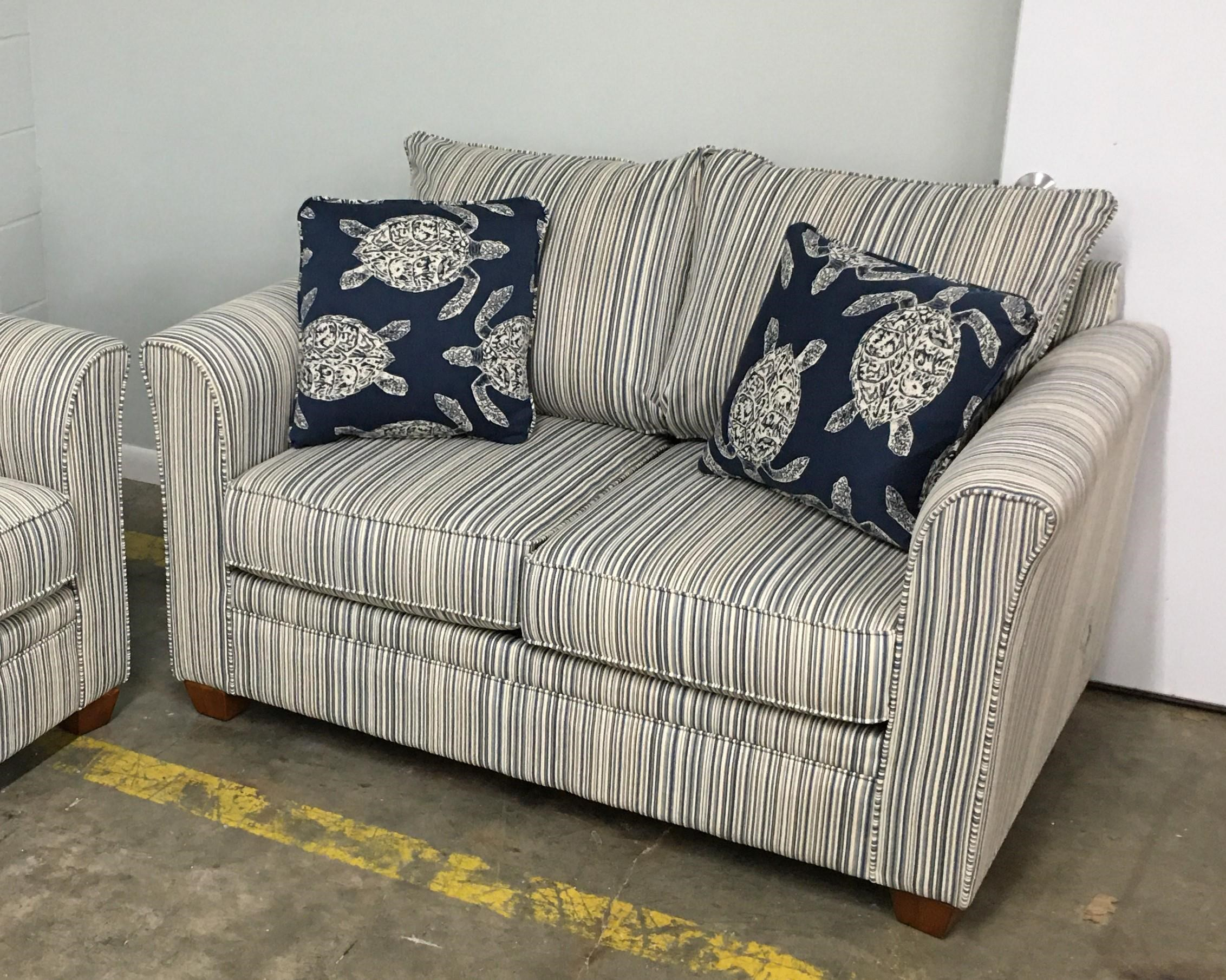 Picture of: Stanley Chair Company 945 Sout Denim 645 South Denim 645 South Denim Loveseat Furniture Fair North Carolina Loveseats